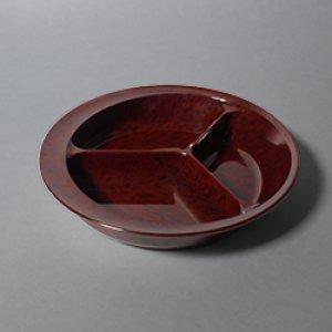 画像1: 三ッ仕切皿(自助食器) (1)