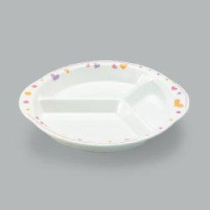 画像1: 三ッ仕切皿(メラミン製) (1)