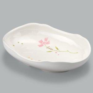 画像1: 楕円皿(メラミン製)※すべり止め加工付き (1)