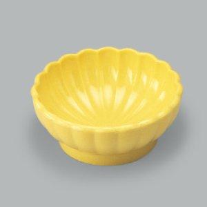 画像1: 菊花小鉢(メラミン製)※すべり止め加工付き (1)