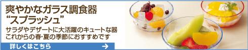 爽やかなガラス調食器 スプラッシュ