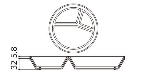 ランチ皿スタッキング図