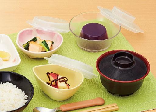 ガラス調食器スプラッシュ盛りつけ例
